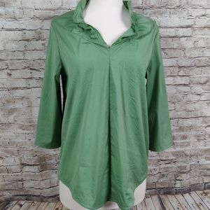 ✅COS |Green Ruffle V-Neck Blouse| 6